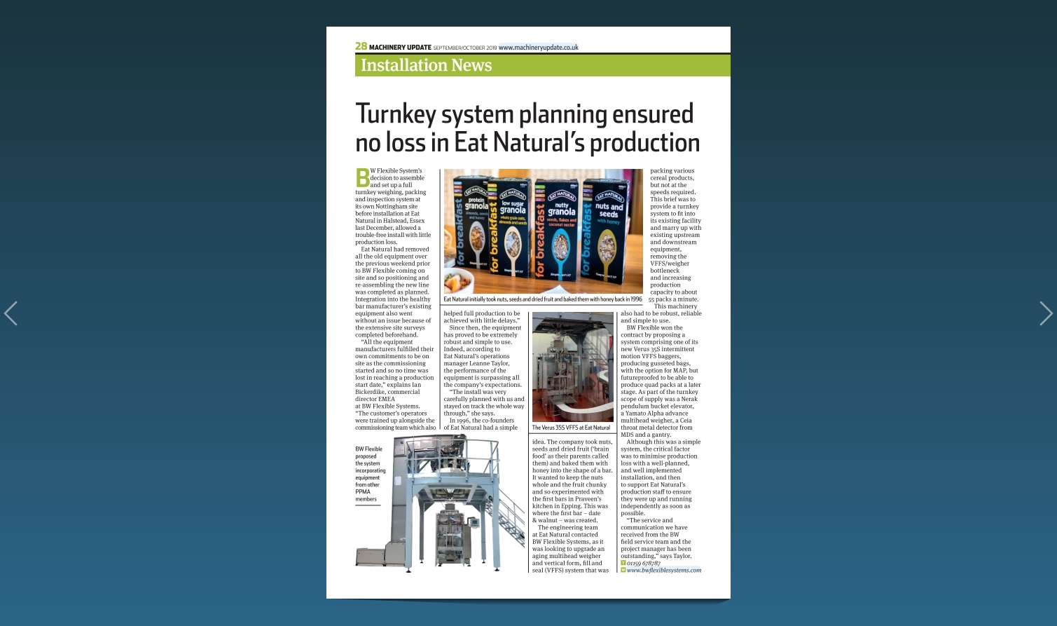 """Turnkey system planning ensured no loss in Eat Natural"