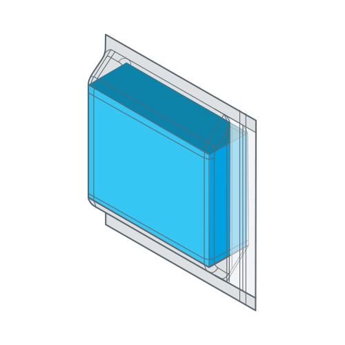 C-образное складывание с zip замком