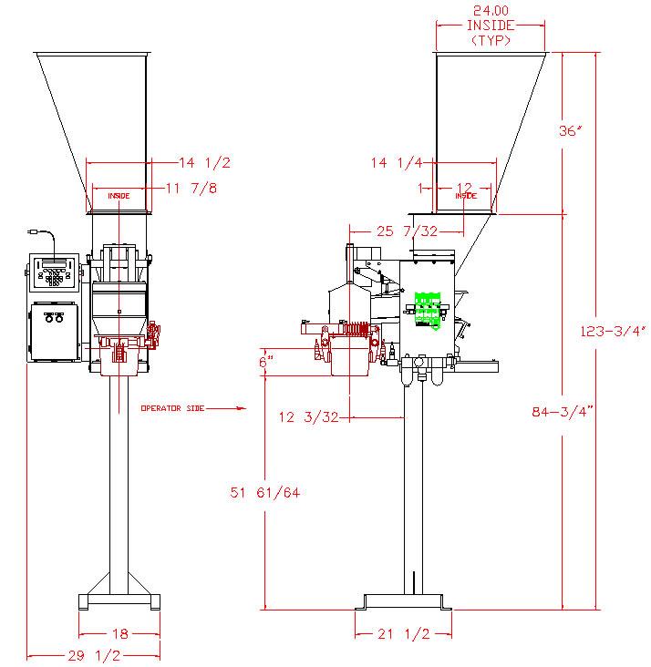 Thiele 6112 PackerEtte® Bag Scale layout
